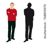 male business without face ... | Shutterstock .eps vector #768855070