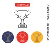 trophy cup icon. winner cup... | Shutterstock .eps vector #768855250