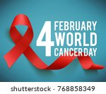realistic red ribbon  world... | Shutterstock .eps vector #768858349