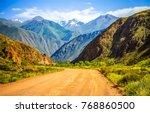 mountain road landscape   Shutterstock . vector #768860500