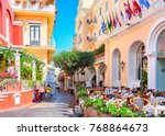 capri  italy   october 3  2017  ... | Shutterstock . vector #768864673