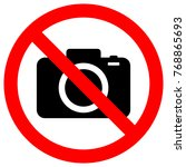 no cameras allowed sign. flat... | Shutterstock .eps vector #768865693