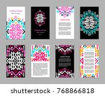 aztec colorful hand drawn... | Shutterstock .eps vector #768866818