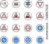 line vector icon set  ... | Shutterstock .eps vector #768867028
