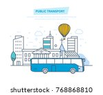 urban public transport ... | Shutterstock .eps vector #768868810
