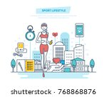 sport lifestyle concept.... | Shutterstock .eps vector #768868876