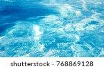 blue background water... | Shutterstock . vector #768869128