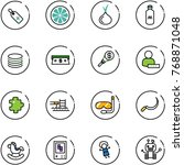 line vector icon set   medical...