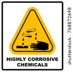 corrosive sign. warning sign.... | Shutterstock . vector #768872698