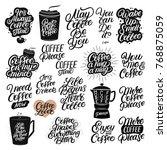 set of 20 hand drawn lettering...   Shutterstock .eps vector #768875059