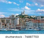the old sea port of marseille | Shutterstock . vector #76887703