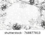 festive holiday background with ... | Shutterstock . vector #768877813