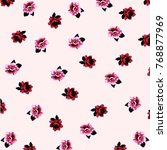 beautiful watercolor roses ... | Shutterstock .eps vector #768877969