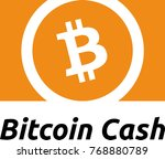 bitcoin cash digital crypto... | Shutterstock .eps vector #768880789