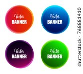 set of colorful round abstract...   Shutterstock .eps vector #768881410