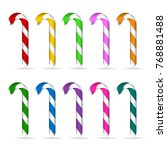 set of multicolored christmas
