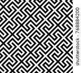 geometric pattern. vector... | Shutterstock .eps vector #768884200