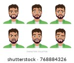 character men hipster. a...   Shutterstock .eps vector #768884326
