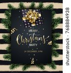 merry christmas and happy new... | Shutterstock .eps vector #768884938
