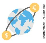 world currency. currency... | Shutterstock .eps vector #768885400