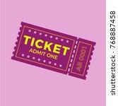 ticket icon vector illustration ... | Shutterstock .eps vector #768887458
