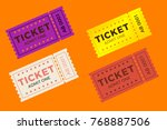 Ticket Set Icon Vector...