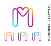 abstract letter m line monogram ... | Shutterstock .eps vector #768894550