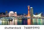 kobe port night view  hyogo... | Shutterstock . vector #768895993