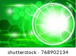 technology background with hud... | Shutterstock .eps vector #768902134