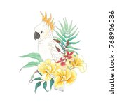 floral decoration with flowers... | Shutterstock .eps vector #768906586