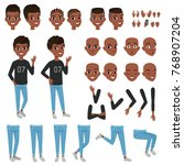 teenager character constructor. ... | Shutterstock .eps vector #768907204