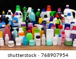 set of usual plastic bottles... | Shutterstock . vector #768907954