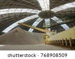 circular storage of limestone... | Shutterstock . vector #768908509