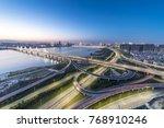 shanghai interchange overpass... | Shutterstock . vector #768910246