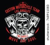 vector skull race print  | Shutterstock .eps vector #768911083