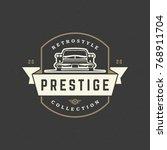 hot rod car logo template... | Shutterstock .eps vector #768911704