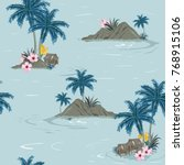 beautiful seamless tropical... | Shutterstock .eps vector #768915106