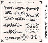 vector set of calligraphic...   Shutterstock .eps vector #768915253