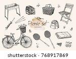 vector illustration. pen style... | Shutterstock .eps vector #768917869