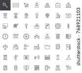 startup new business line icons ...   Shutterstock .eps vector #768921103