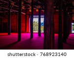 Silhouette Of Meditation Hall...