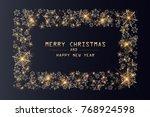merry christmas lettering...   Shutterstock .eps vector #768924598