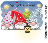 greeting christmas card with... | Shutterstock .eps vector #768926134