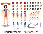set for creating character... | Shutterstock .eps vector #768926224