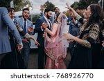 handsome indian groom dressed...   Shutterstock . vector #768926770