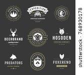 camping logos templates vector...   Shutterstock .eps vector #768930178