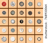 multicolored sewing buttons... | Shutterstock .eps vector #768933064