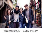 multi ethnic group of friends... | Shutterstock . vector #768944359