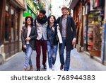 multi ethnic group of friends... | Shutterstock . vector #768944383