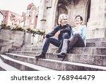 senior couple taking a rest... | Shutterstock . vector #768944479